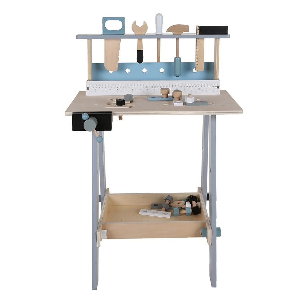 Children's workbench made out of wood